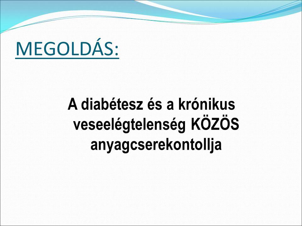 MEGOLDÁS: A diabétesz és a krónikus veseelégtelenség KÖZÖS anyagcserekontollja