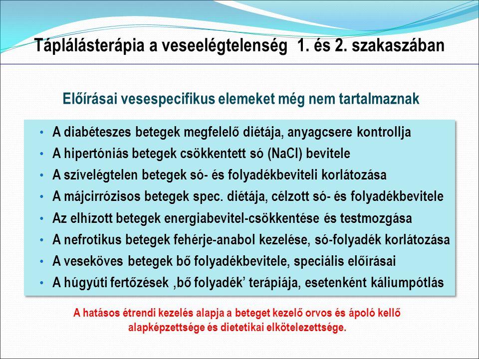 Táplálásterápia a veseelégtelenség 1. és 2.