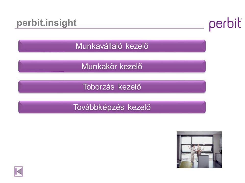 Objektumok és Nézetek A perbit.insight ún.objektum-orientált felépítésű szoftver.