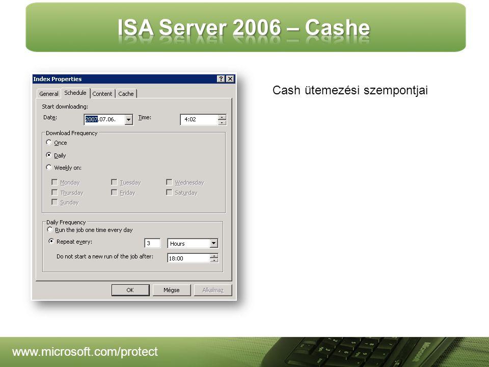 www.microsoft.com/protect Cash ütemezési szempontjai