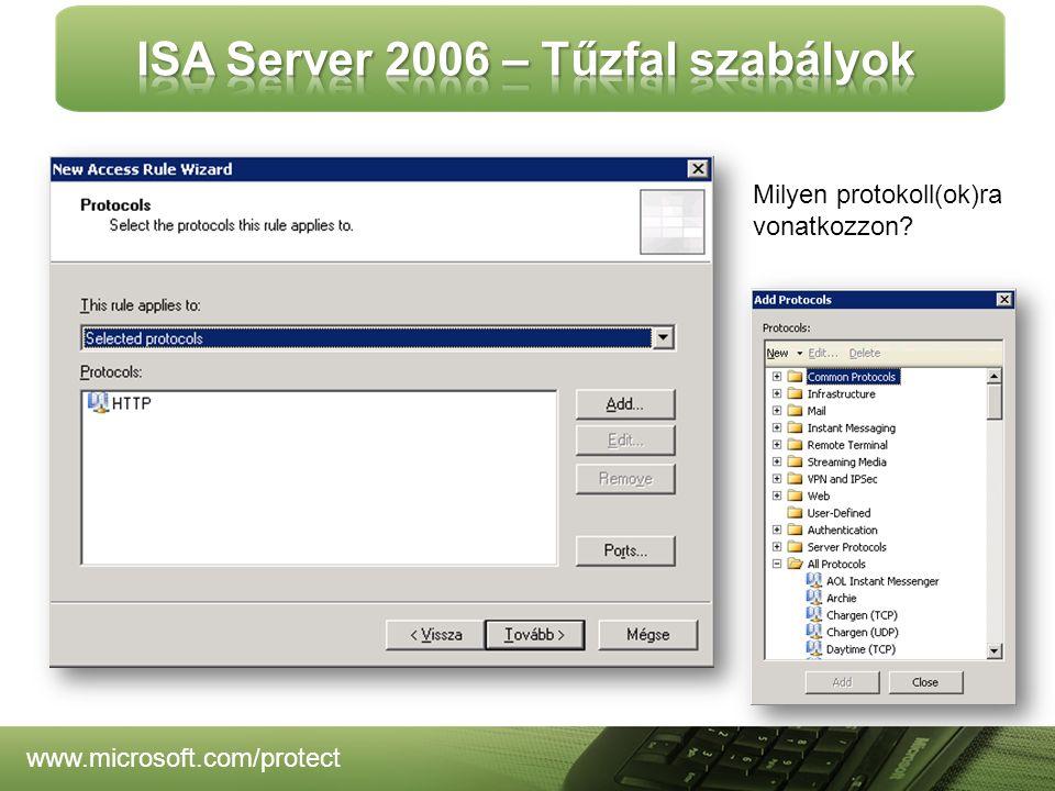 www.microsoft.com/protect Milyen protokoll(ok)ra vonatkozzon?
