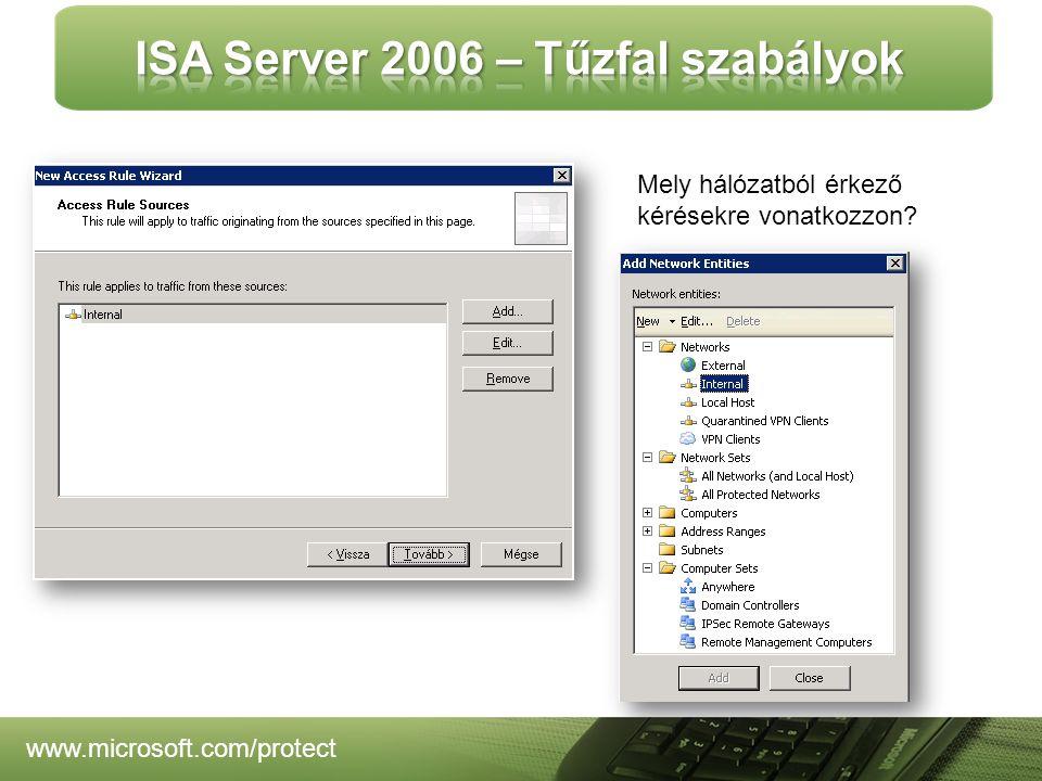 www.microsoft.com/protect Mely hálózatból érkező kérésekre vonatkozzon?