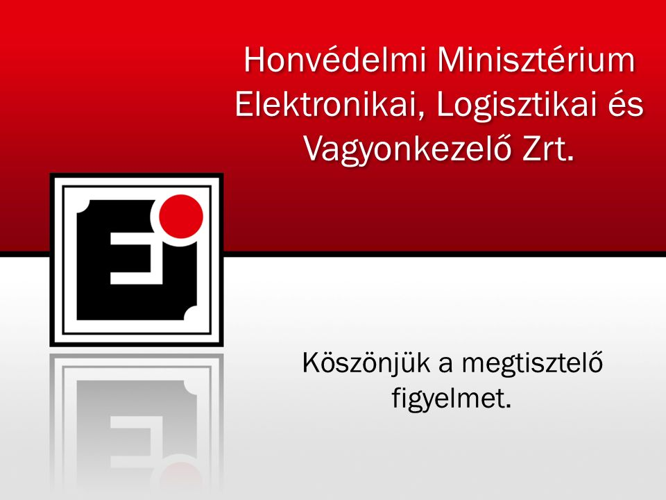 Honvédelmi Minisztérium Elektronikai, Logisztikai és Vagyonkezelő Zrt.