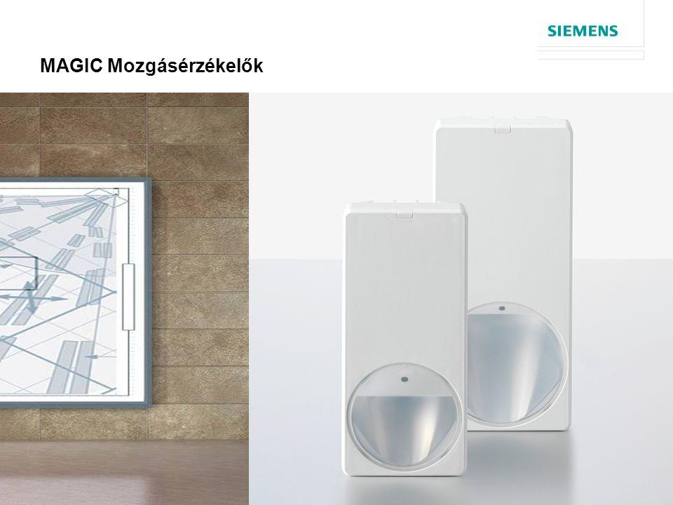 © Siemens AG 2013 12 oldal MAGIC Mozgásérzékelők  Új érzékelő család bevezetése  Tanúsítás  MAGIC mirror technology  Design  Portfolio  Telepítés  Kiegészítők  Összefoglaló