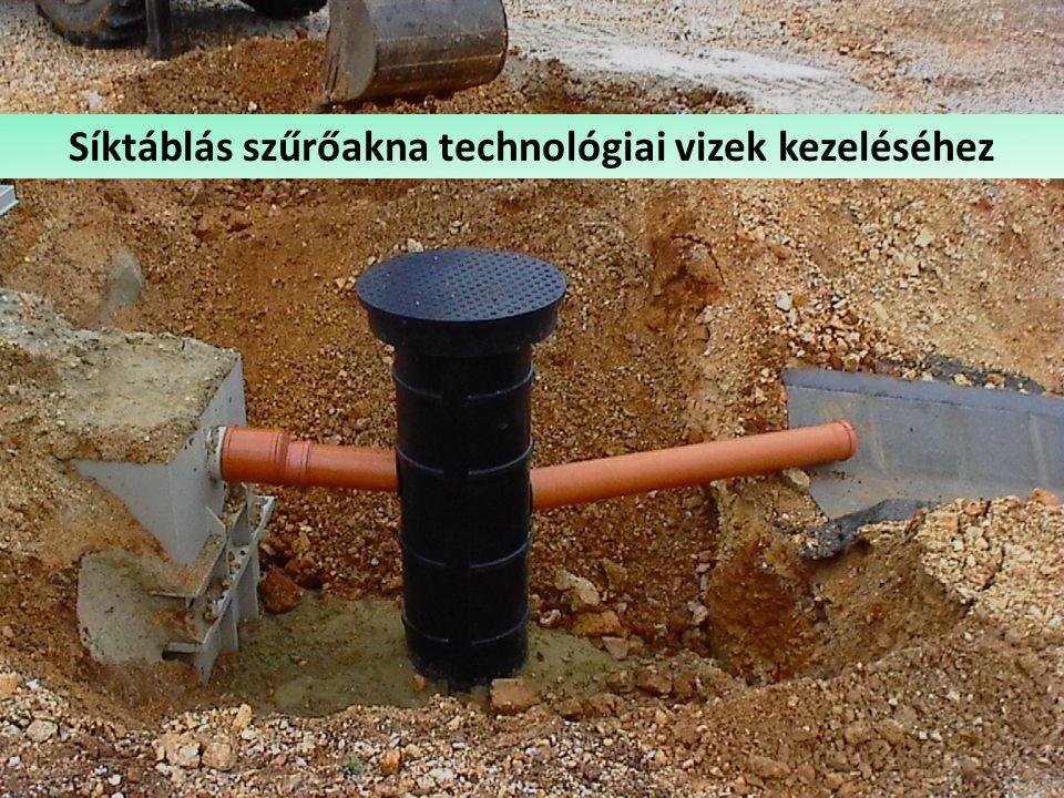 Csapadékvíz-olajleválasztó Síktáblás szűrőakna technológiai vizek kezeléséhez