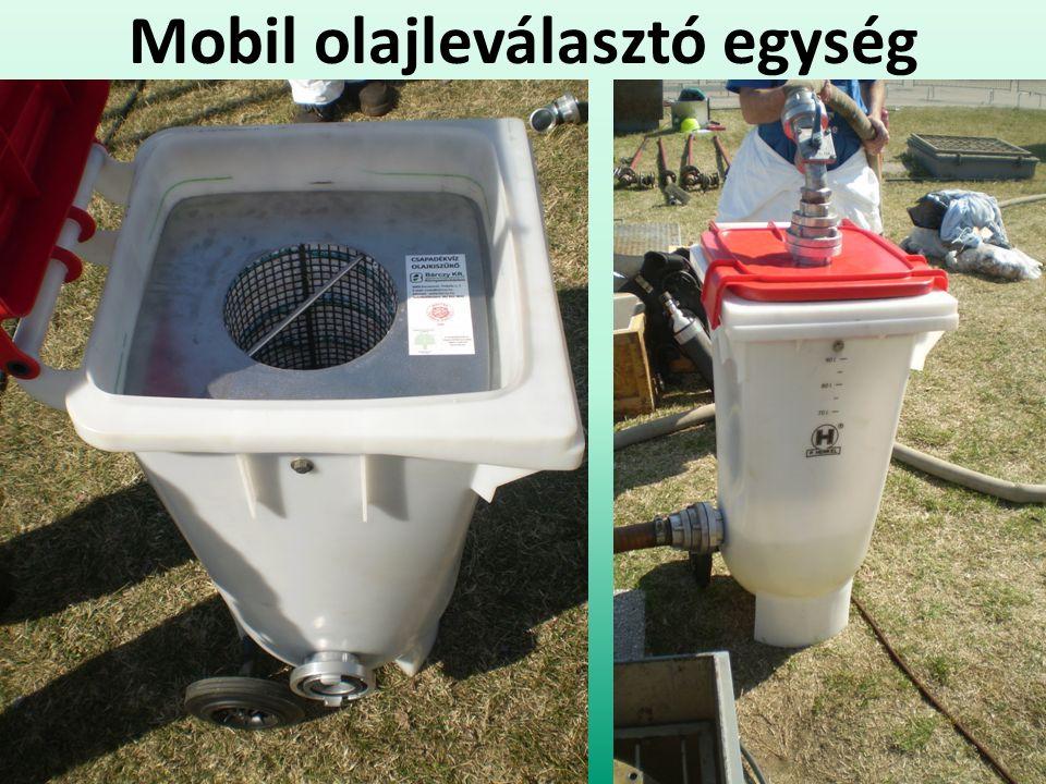 Mobil olajleválasztó egység
