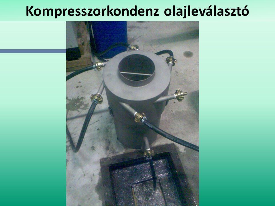 Kompresszorkondenz olajleválasztó