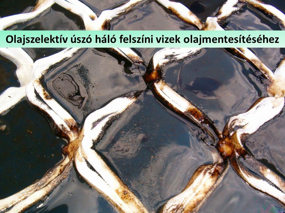 Csapadékvíz-olajleválasztó Olajszelektív úszó háló felszíni vizek olajmentesítéséhez