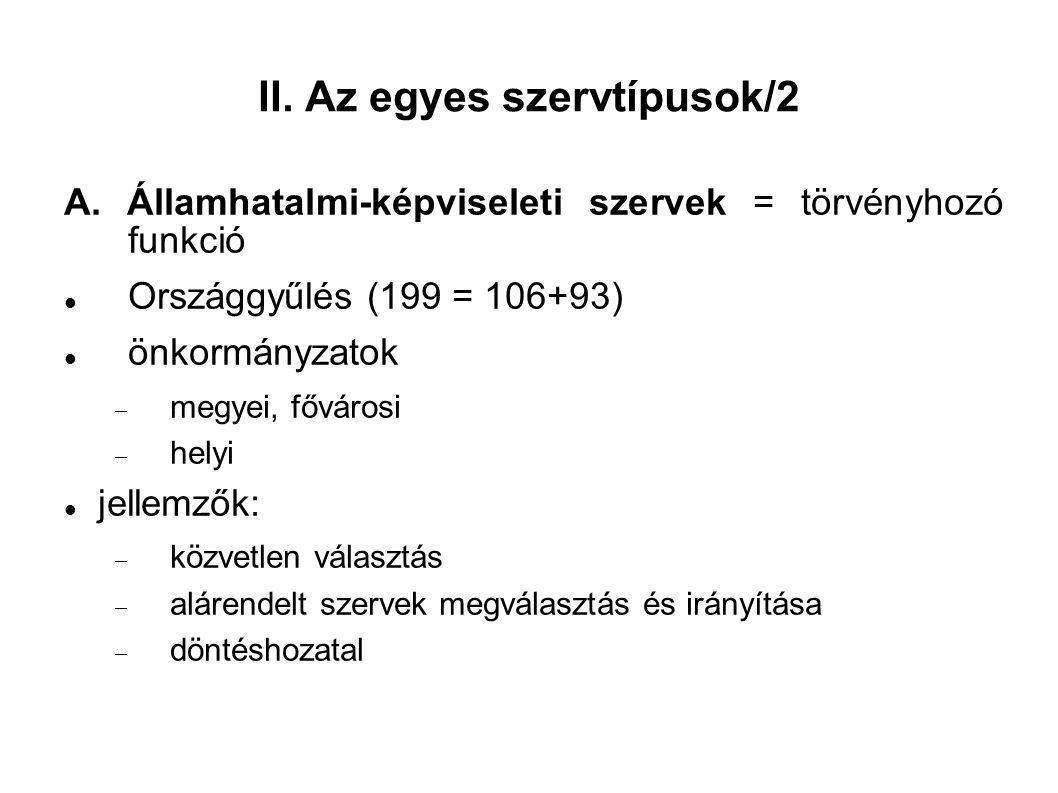 II. Az egyes szervtípusok/2 A.