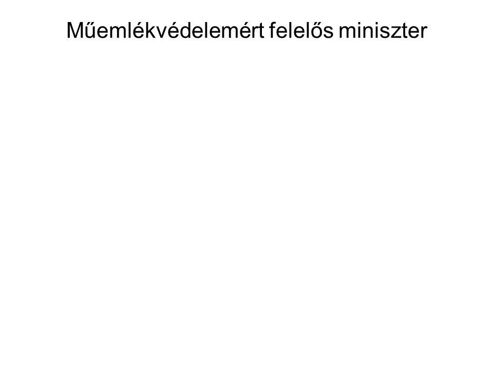 Műemlékvédelemért felelős miniszter