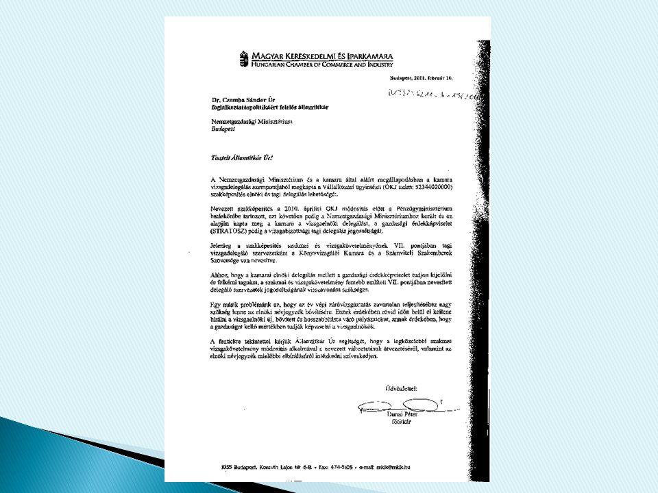 Z á r ó vizsga Bizotts á g Eln ö ki P á ly á zat 2011.