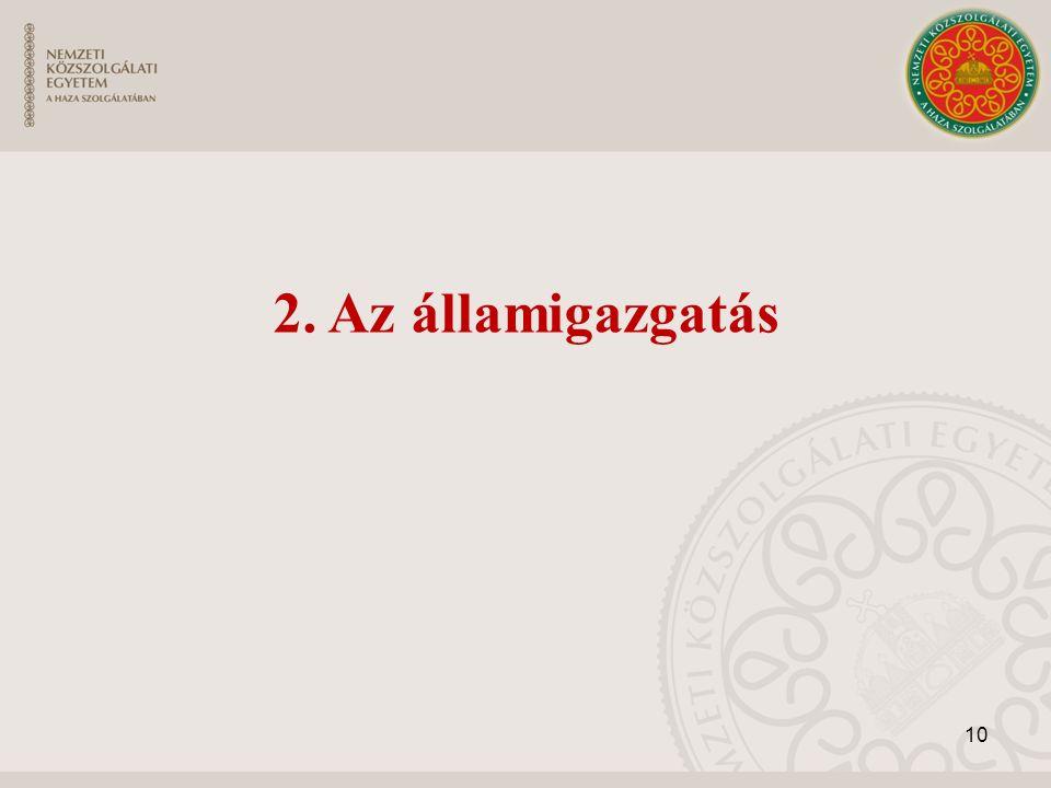 10 2. Az államigazgatás