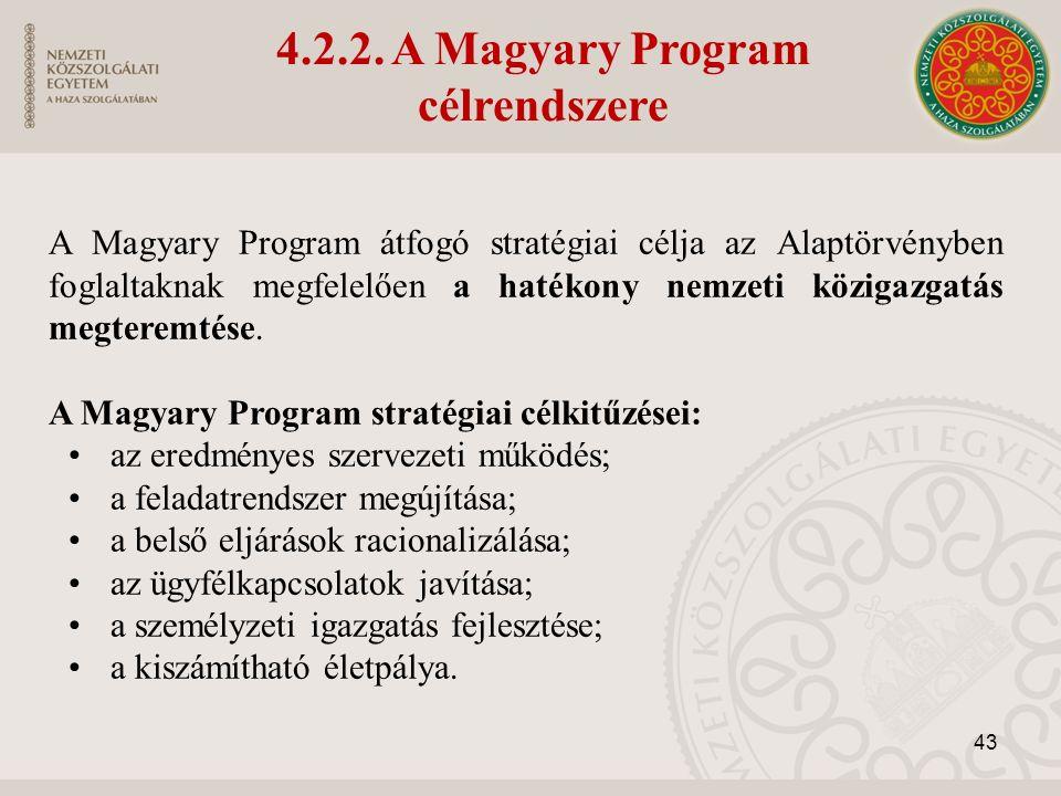 A Magyary Program átfogó stratégiai célja az Alaptörvényben foglaltaknak megfelelően a hatékony nemzeti közigazgatás megteremtése.