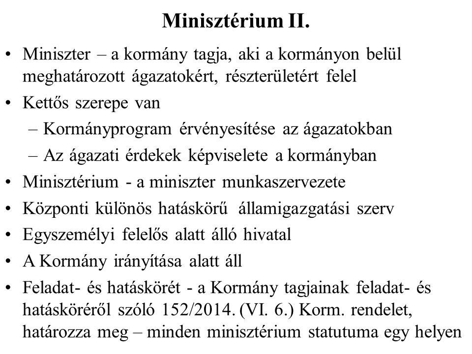 Minisztérium II.