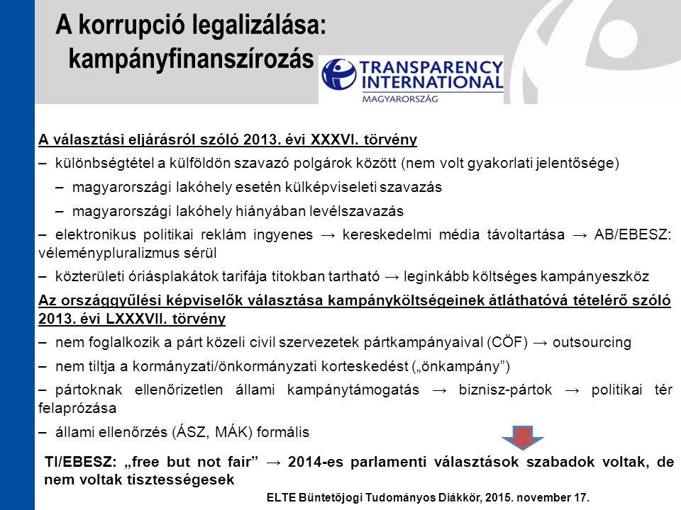 A választási eljárásról szóló 2013. évi XXXVI. törvény –különbségtétel a külföldön szavazó polgárok között (nem volt gyakorlati jelentősége) –magyaror