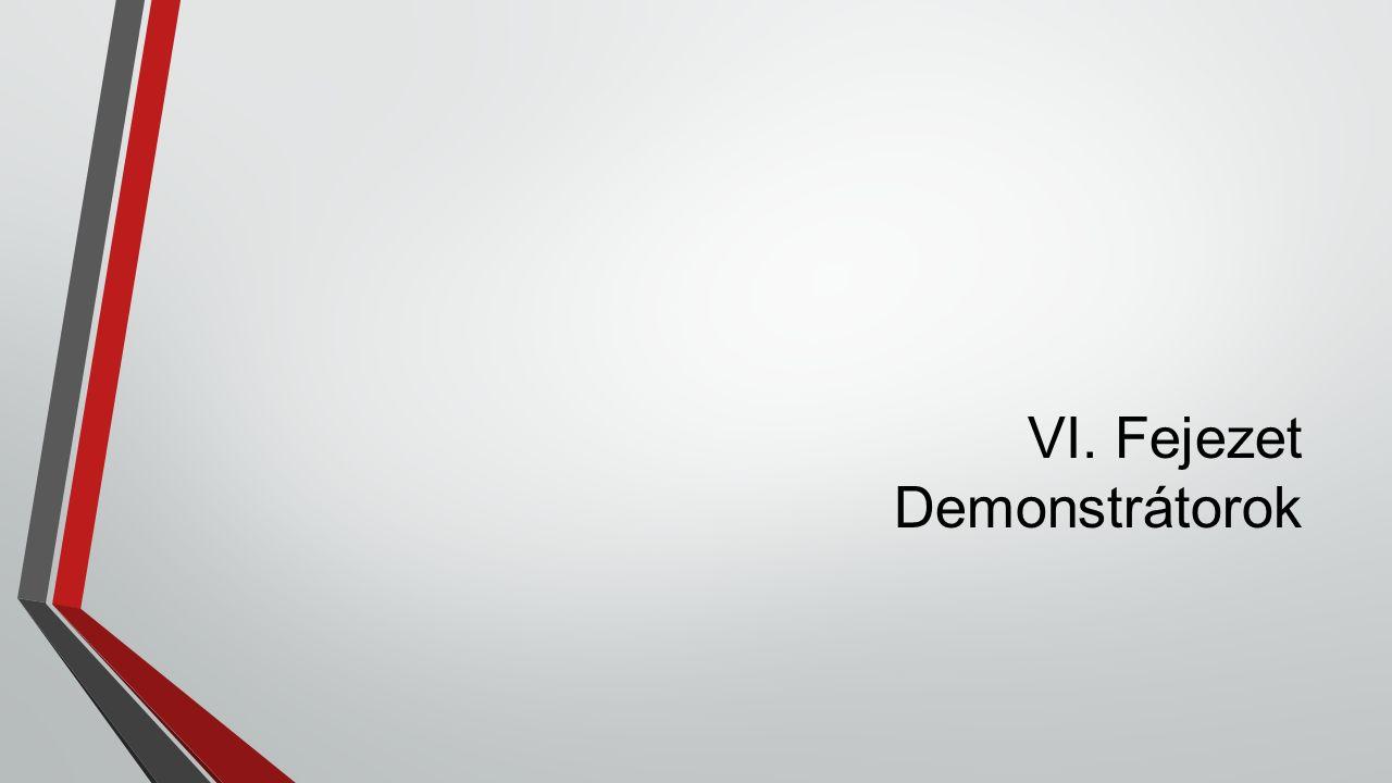 VI. Fejezet Demonstrátorok