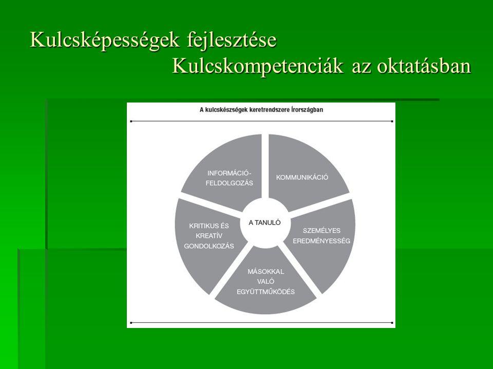 Kulcsképességek fejlesztése Kulcskompetenciák az oktatásban