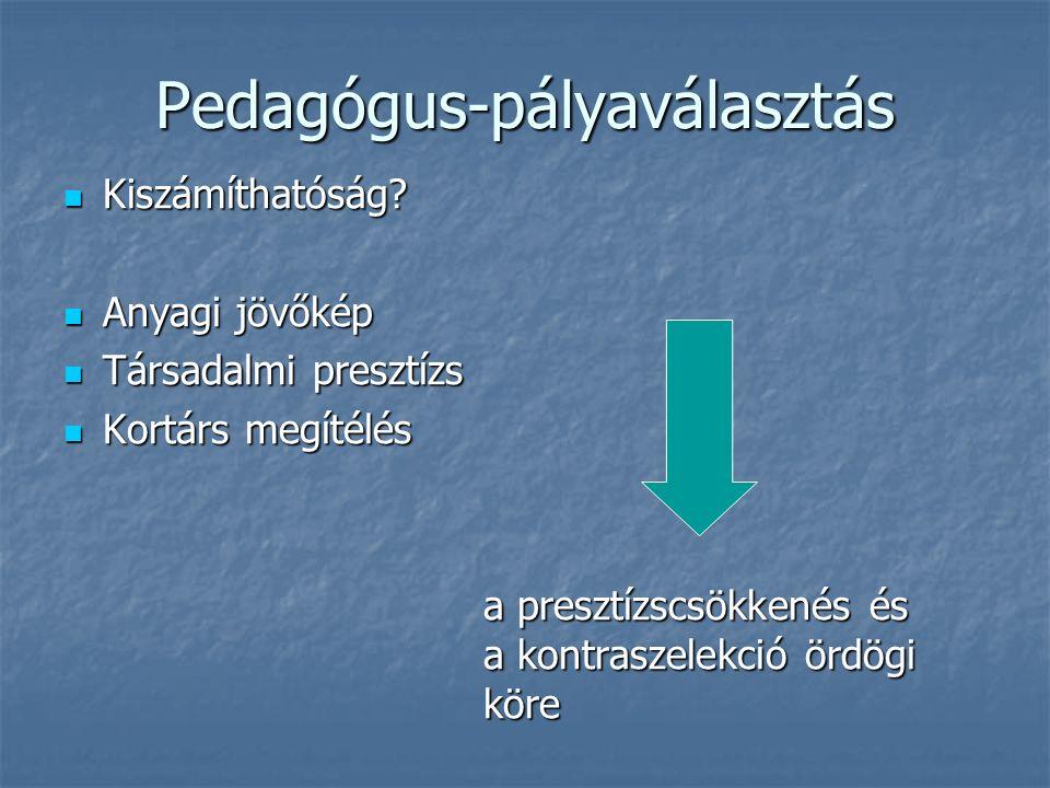 Pedagógus-pályaválasztás Kiszámíthatóság. Kiszámíthatóság.