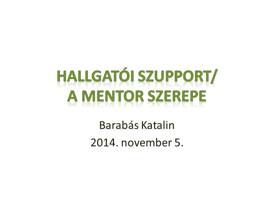 Barabás Katalin 2014. november 5.