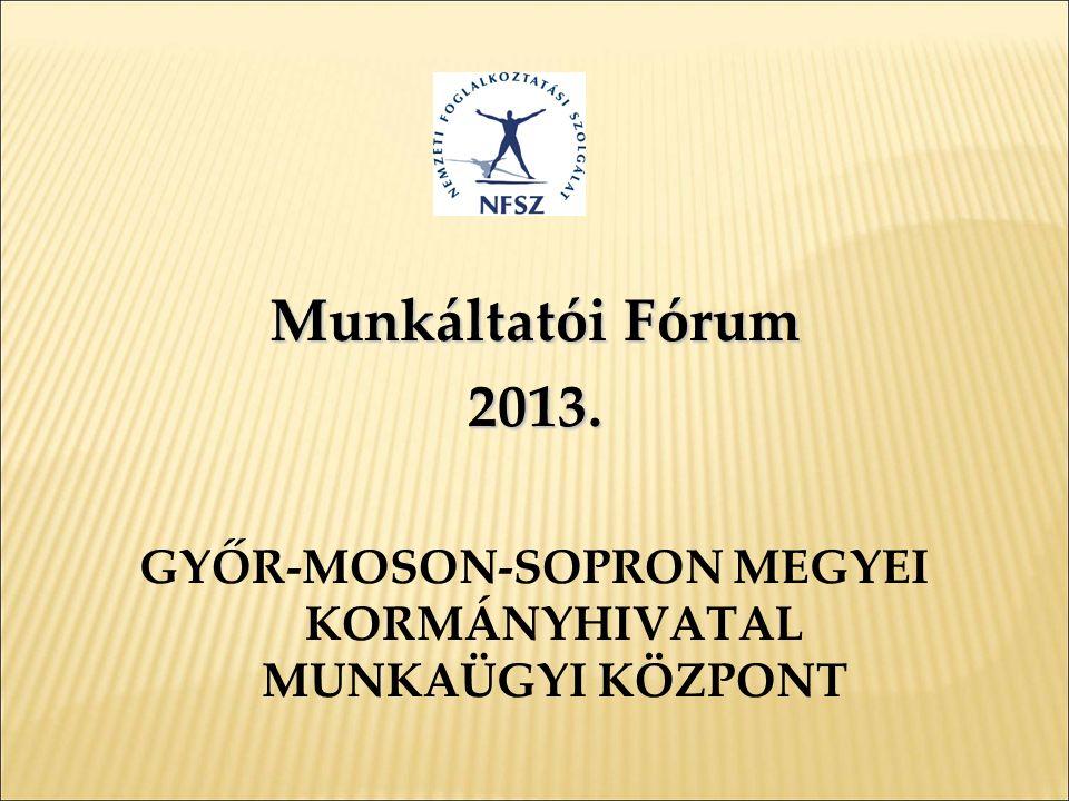 Munkáltatói Fórum 2013. GYŐR-MOSON-SOPRON MEGYEI KORMÁNYHIVATAL MUNKAÜGYI KÖZPONT