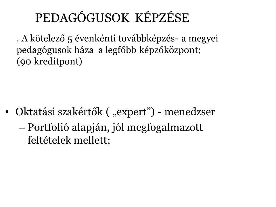 PEDAGÓGUSOK KÉPZÉSE.