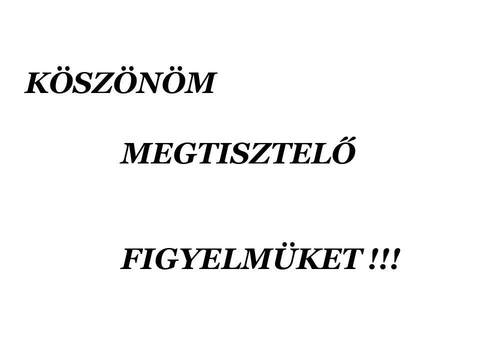 KÖSZÖNÖM MEGTISZTELŐ FIGYELMÜKET !!!