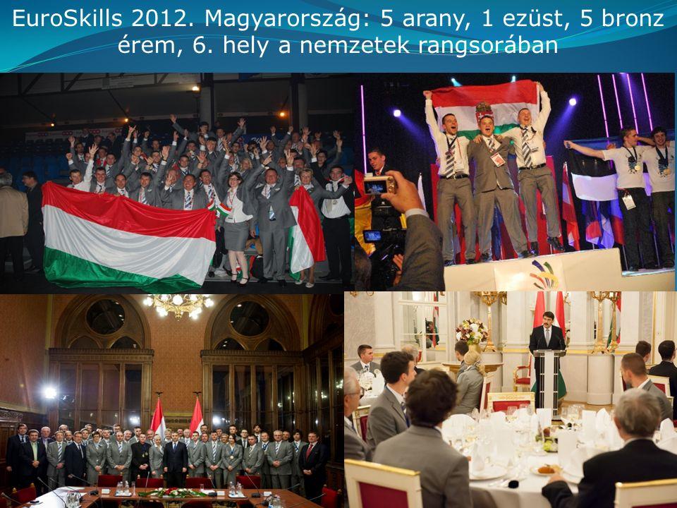 EuroSkills 2012. Magyarország: 5 arany, 1 ezüst, 5 bronz érem, 6. hely a nemzetek rangsorában