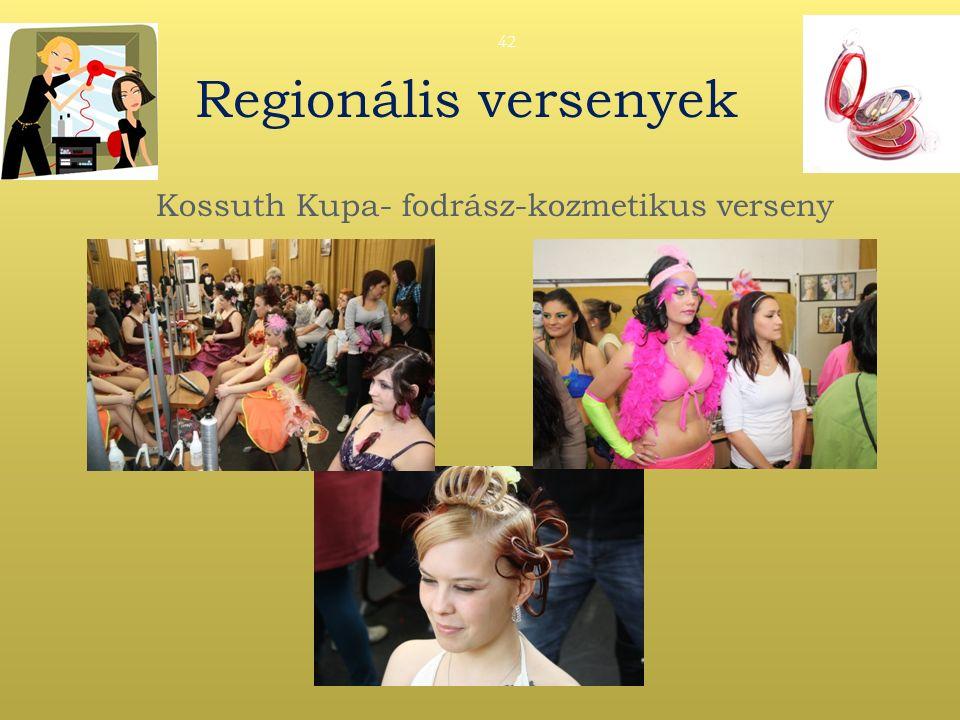 Regionális versenyek Kossuth Kupa- fodrász-kozmetikus verseny 42