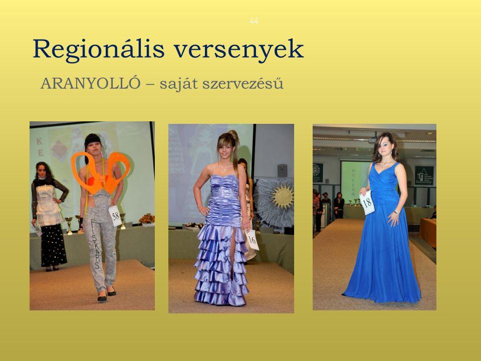 Regionális versenyek ARANYOLLÓ – saját szervezésű 44