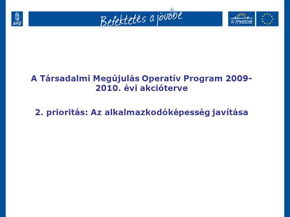 A Társadalmi Megújulás Operatív Program 2009- 2010.