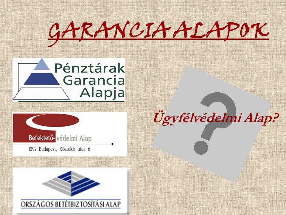 GARANCIA ALAPOK Ügyfélvédelmi Alap