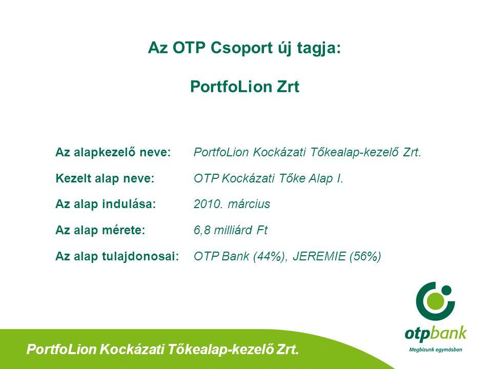 PortfoLion Kockázati Tőkealap-kezelő Zrt.Köszönjük megtisztelő figyelmüket.