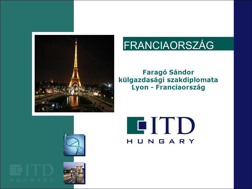 Befektetési környezet jellemzői Franciaország Terület : 675.417 km² Lakosság : 65,4 millió 2008.