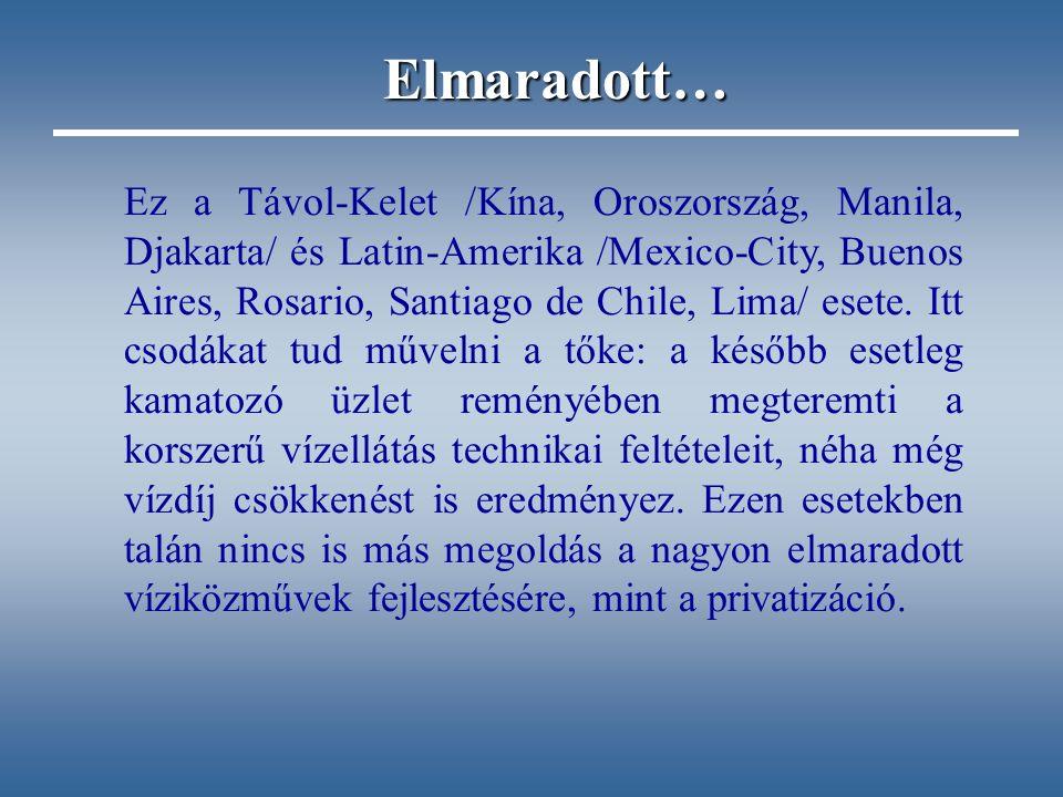 Ez a Távol-Kelet /Kína, Oroszország, Manila, Djakarta/ és Latin-Amerika /Mexico-City, Buenos Aires, Rosario, Santiago de Chile, Lima/ esete.