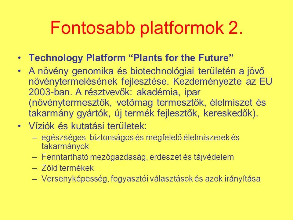 Fontosabb platformok 2.