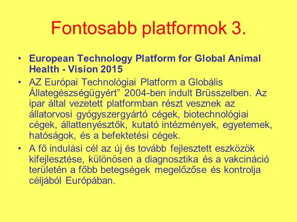 Fontosabb platformok 3.