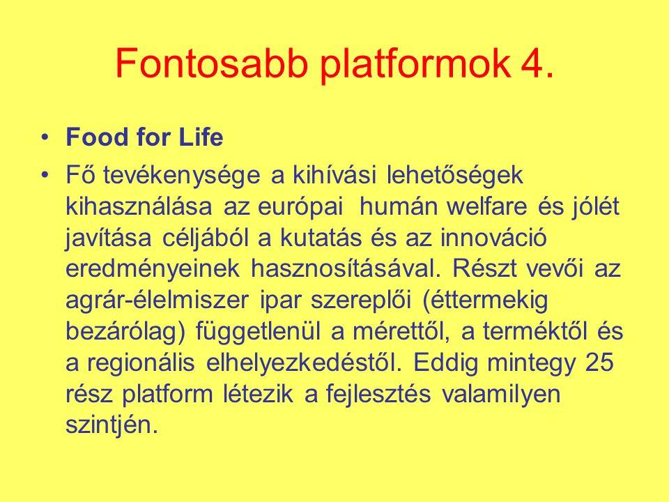 Fontosabb platformok 4.