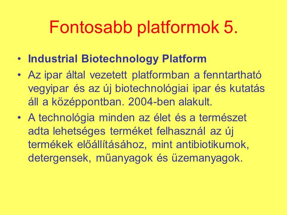 Fontosabb platformok 5.