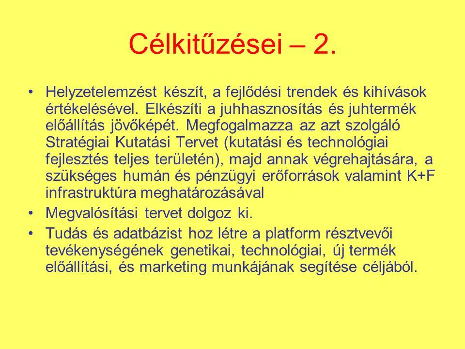 Célkitűzései – 2.Helyzetelemzést készít, a fejlődési trendek és kihívások értékelésével.