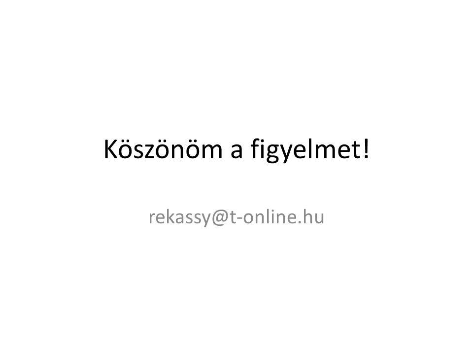 Köszönöm a figyelmet! rekassy@t-online.hu