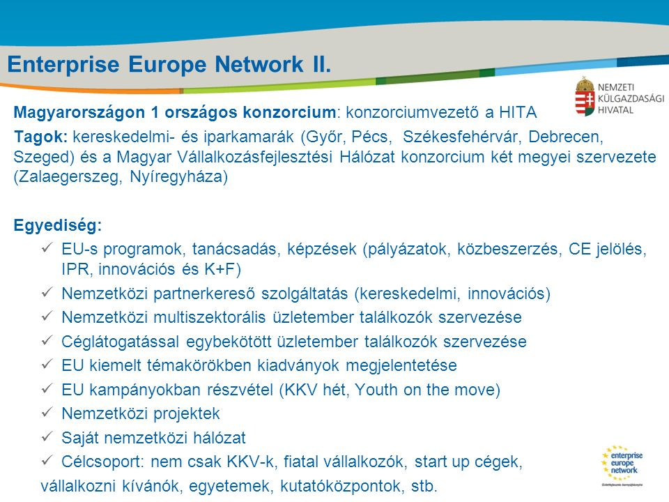 Title of the presentation | Date |‹#› Enterprise Europe Network II.