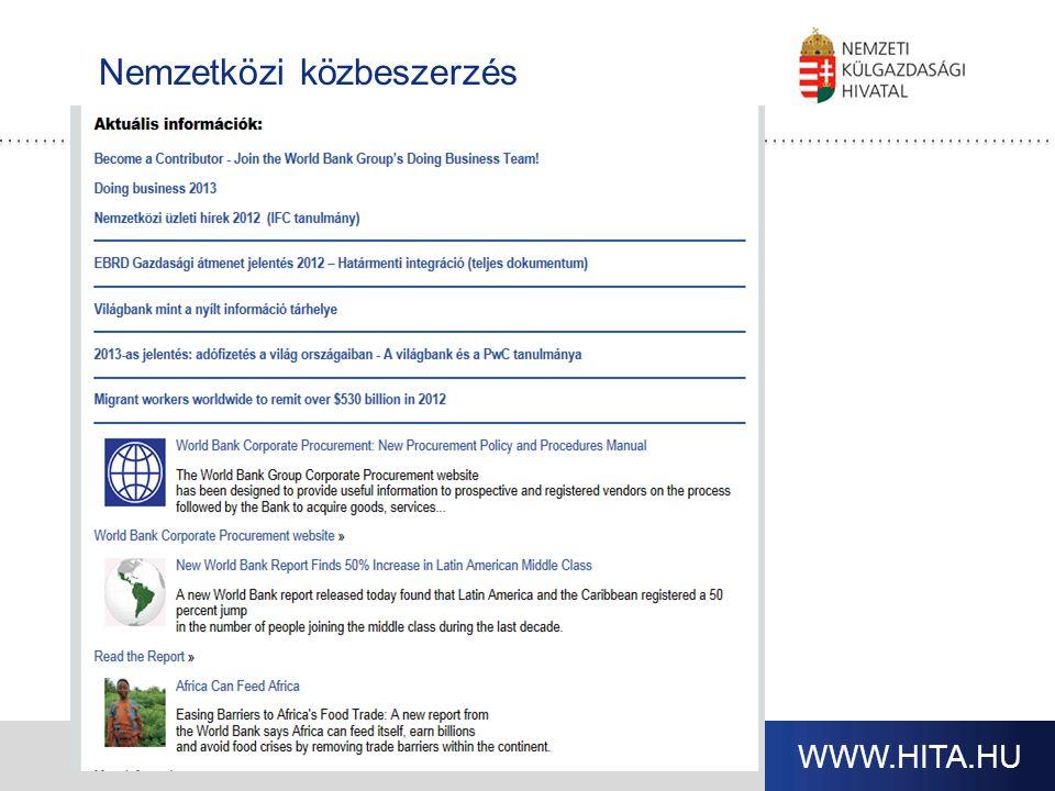 WWW.HITA.HU Nemzetközi közbeszerzés