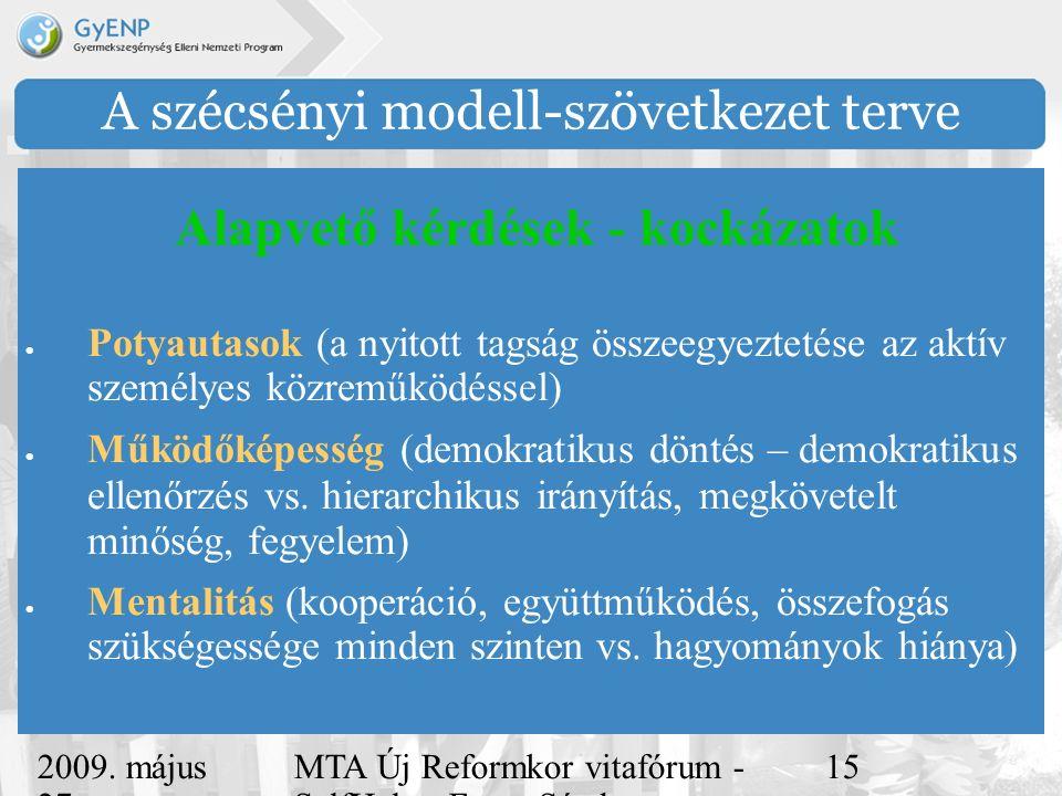 2009. május 27. MTA Új Reformkor vitafórum - SelfHelp - Ferge Sándor, eMultiCoop 15 A szécsényi modell-szövetkezet terve  Potyautasok (a nyitott tags