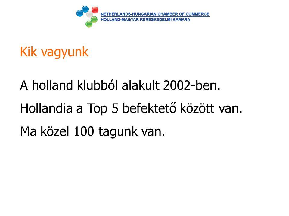 Kik vagyunk A holland klubból alakult 2002-ben. Hollandia a Top 5 befektető között van. Ma közel 100 tagunk van.