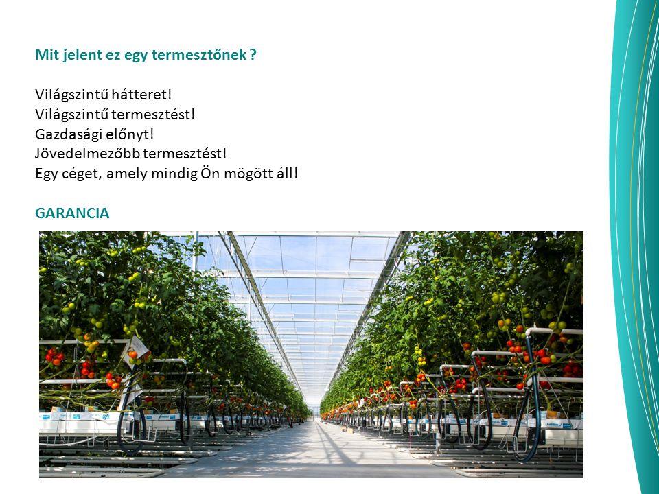 Mit jelent ez egy termesztőnek ? Világszintű hátteret! Világszintű termesztést! Gazdasági előnyt! Jövedelmezőbb termesztést! Egy céget, amely mindig Ö
