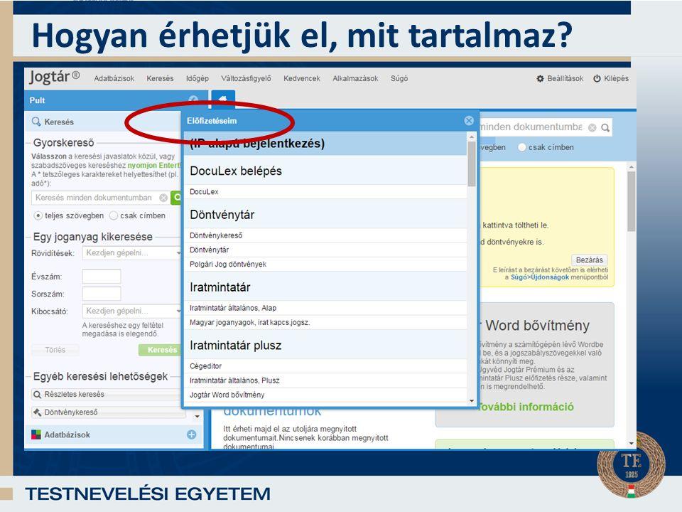 Kezelőfelület, használat Indítás után megjelenik az Induló oldal és a Pult, innen lehet a számos adatbázis közül egyet vagy többet megnyitni.