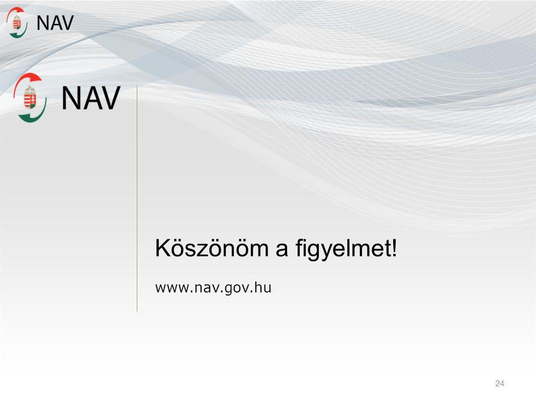 Köszönöm a figyelmet! www.nav.gov.hu 24