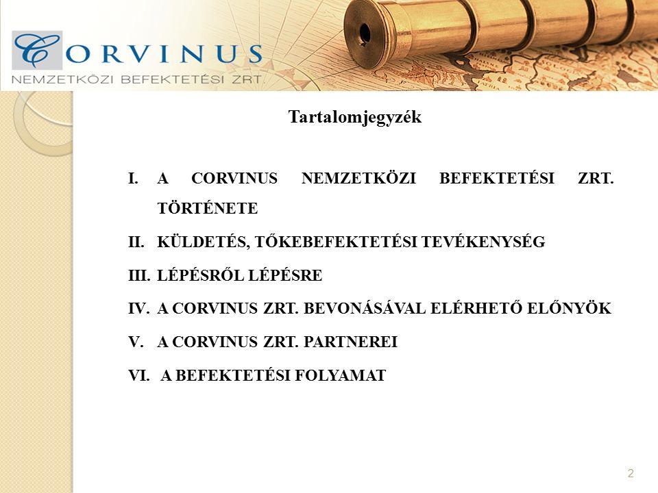 13 IV.ELÉRHETŐ ELŐNYÖK A CORVINUS ZRT.