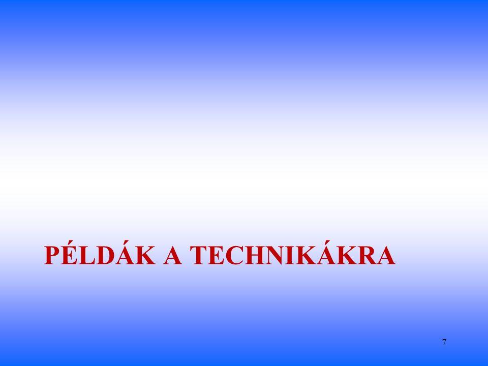 ÁLTALÁNOS KÖRNYEZET FELADAT KÖRNYEZET BELSŐ KÖRNYEZET (a vállalkozás) Vevők Szabály o z ók Munkaerő kínálat Szállítók Versenytársak Politikai-jogi környezet Gazdaság Társadalom-kultúra Műszaki, technológiai háttér Nemzetközi kapcsolatok Technikák a végrehajtás környezetének elemzésére SWOT elemzés STAKEHOLDER (érintett) elemzés PESTEL elemzés Versenytárs elemzés Ellátási lánc elemzés Iparági életciklus Gyémánt modell Erőtér elemzés Stratégiai csoport Értéklánc elemzés