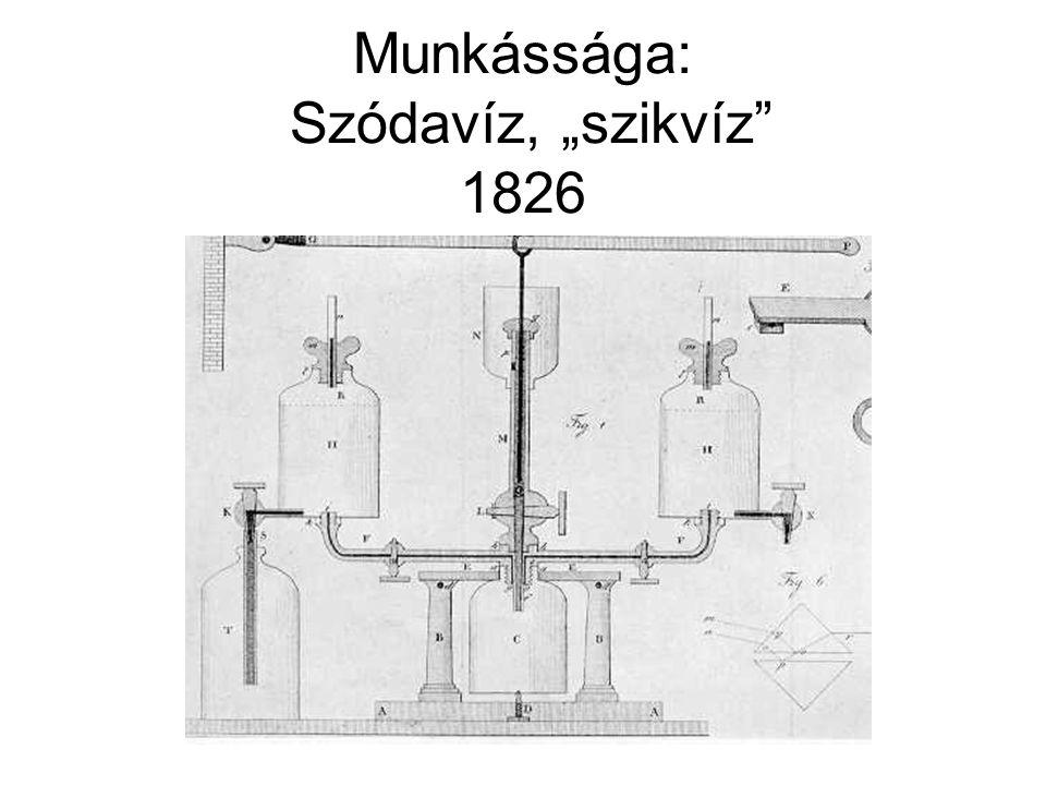 """Munkássága: """"villámdelejes forgony 1829"""